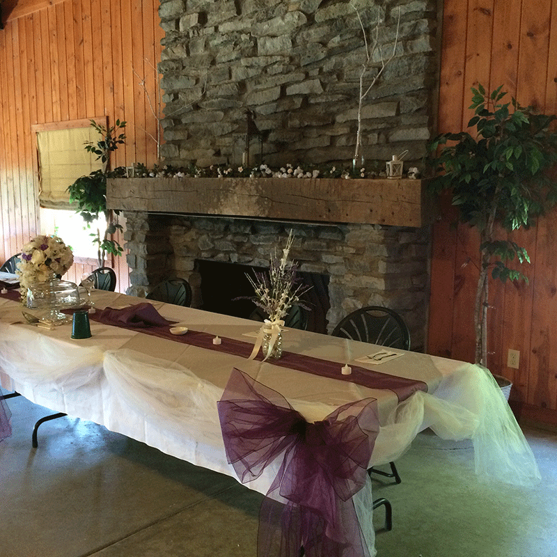 Fireplace Inside Ohio Bird Sanctuary